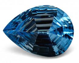 8.15ct Pear Blue Topaz Fantasy/Fancy Cut