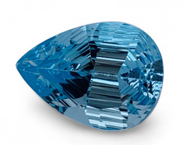 8.10ct Pear Blue Topaz Fantasy/Fancy Cut - $1 No Reserve Auction