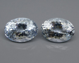 12.58ct Oval Aquamarine Pair