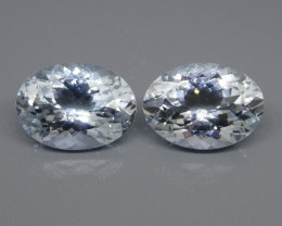 10.78ct Oval Aquamarine Pair