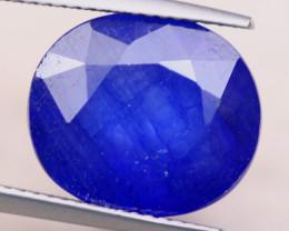 12.07ct Natural Ceylon Blue Sapphire Oval Cut Lot D411