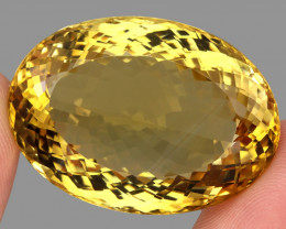 Very Clean 139.80 Ct. 100% Natural Top Yellow Golden Citrine Unheated Brazi