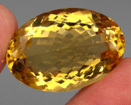 51.45 ct. Top Quality Natural Golden Yellow Citrine Brazil Unheated