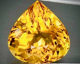 Lustrous! Brilliance! 12.25ct Golden Beryl Heliodor