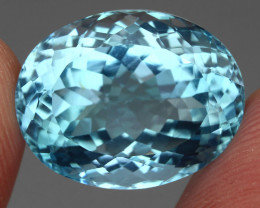 24.91 ct. 100% Natural Earth Mined Top Quality Blue Topaz Brazil