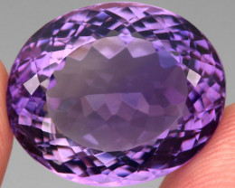 24.02 ct 100% Natural Earth Mined Unheated Purple Amethyst, Uruguay
