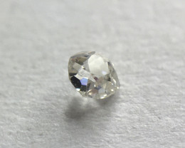 0.05 ct Antique Light Grey Three Fold Cut Round Diamond