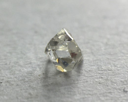 0.05ct Antique Grey VVS2 Old French Cut Square Diamond
