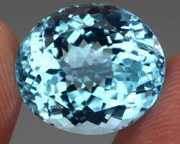 19.60 ct. 100% Natural Earth Mined Top Quality Blue Topaz Brazil
