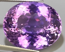 42.75 CTS SUPERIOR! RARE SOFT -VIOLET-AMETHIYST OVAL GENUINE!$300.00