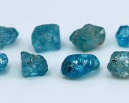 23.35Cts Natural - Unheated Blue Zircon  Rough Lot