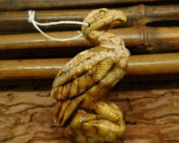 Natural gemstone jasper carved eagle pendant (G2525)