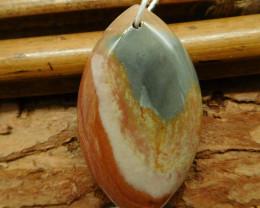 Succor jasper pendant bead (G2539)