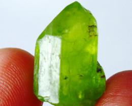 20 CT Natural - Unheated Green  Peridot   Crystal