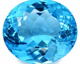 46.52 Cts Huge  Super Swiss Blue Natural Topaz Loose Gemstones