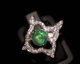 Natural Ethiopian Welo Opal 925 Silver Ring 141