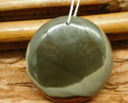 Round succor jasper pendant (G2557)