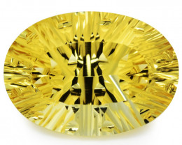 43.12 Cts Millennium cut Golden Yellow Natural Citrine Gemstone