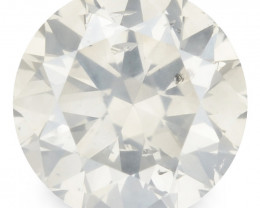 *NoReserve* Untreated Diamond 0.43 Cts Natural Fancy Yellowish Grey Color