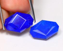 Lapis Lazuli 8.14Ct 2Pcs Master Cut Natural Afghanistan Lapis Lazuli B1707
