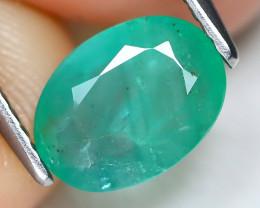 Zambian Emerald 1.34Ct Oval Cut Natural Green Color Emerald B1713