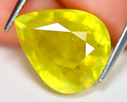 Yellow Sapphire 9.98Ct Oval Cut Yellow Color Sapphire B1715