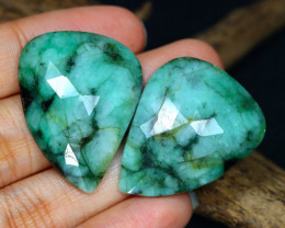 Unheated 55.04Ct Natural Untreated Green Emerald A1714