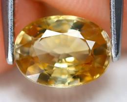 Yellow Zircon 2.04Ct VS Oval Cut Natural Yellow Orange Zircon B6866