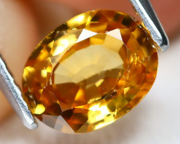 Yellow Zircon 1.45Ct Oval Cut Natural Yellow Orange Zircon B6867