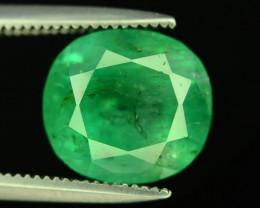 Top Color  3.50 ct Panjsher Emerald ~ Afghanistan P