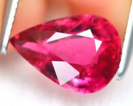 Pink Tourmaline 1.53Ct Pear Cut Natural Vivid Pink Tourmaline B6733