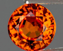 4.00 mm Round 0.45ct Orange Spessartite Garnet [VVS]