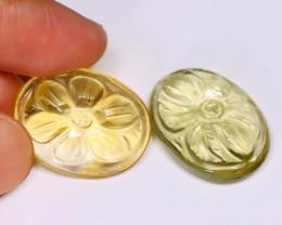 Yellow Citrine 32.57Ct Natural Designer Fancy Carving Citrine B6704