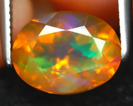 Mexican Fire Opal 1.31Ct Oval Cut Natural Mexican Fire Opal B6843