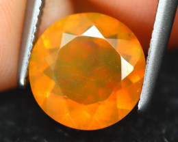 Mexican Fire Opal 1.10Ct Round Cut Natural Mexican Fire Opal B6844