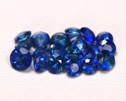 3.28Ct Calibrate 3.9mm Round Natural Blue Color Sapphire Lot B6716