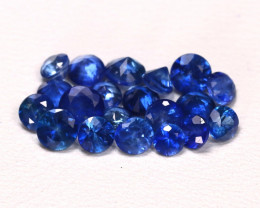 3.44Ct Calibrate 3.8mm Round Natural Blue Color Sapphire Lot B6718