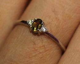 Natural Tourmaline 925 Silver Ring 224