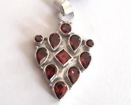 Garnet 925 Sterling silver pendant #34172