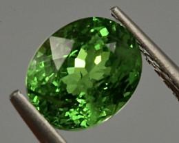 1.29 ct Tsaverite Garnet With Fine Cutting Gemstone