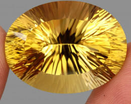 59.10 ct. Top Quality Natural Golden Yellow Citrine Brazil Unheated