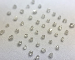 0.19 ct 44 x F/G/H/I Micro-Rough Diamond Crystals