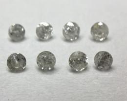 0.11 ct 8 x F - Light Silver i1 - Pique Round Brilliant Diamond