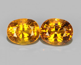 1.40 CTS~AWESOME NICE ORANGEISH-YELLOW SAPPHIRE FACET GENUINE~
