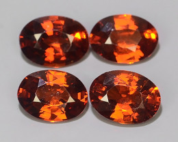 3.65 CTS OUTSTANDING! OVAL FACET RED NATURAL SPESSARTITE GARNET!!