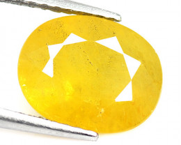 2.54 Cts Amazing Rare Natural Fancy Yellow Sapphire Loose Gemstone