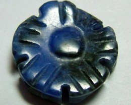 8 CTS SODALITE CARVED  BEAD DRILLED   NP-124