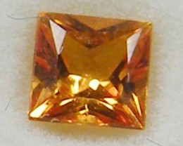 SQUARE FANCY CUT  ORANGE COLOUR SAPPHIRE  0.35CARAT  TW 906