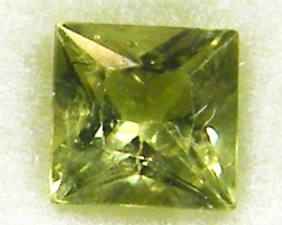 SQUARE FANCY CUT  GREEN COLOUR SAPPHIRE  0.55CARAT  TW 907