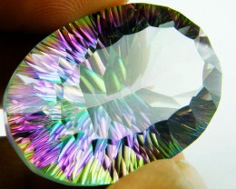 MYSTIC QUARTZ  VVS  FACETED 46.95 CTS  GTT 147